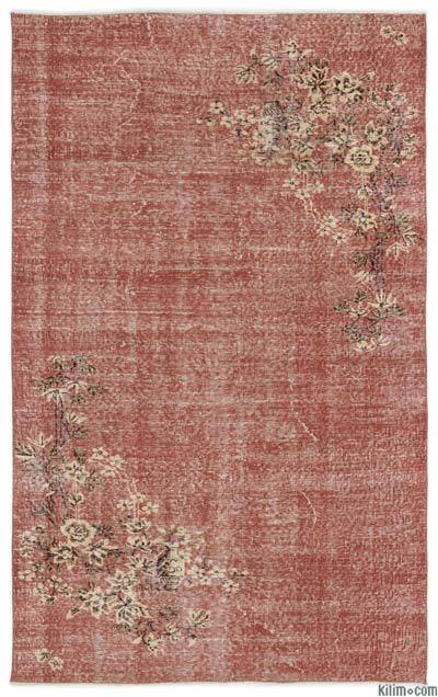 Turkish Vintage Area Rug - 5' x 8' (60 in. x 96 in.)