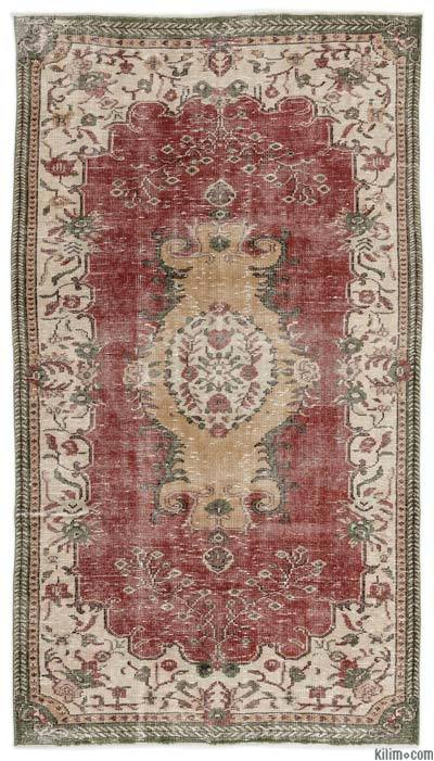 """Turkish Vintage Area Rug - 4'11"""" x 9'1"""" (59 in. x 109 in.)"""