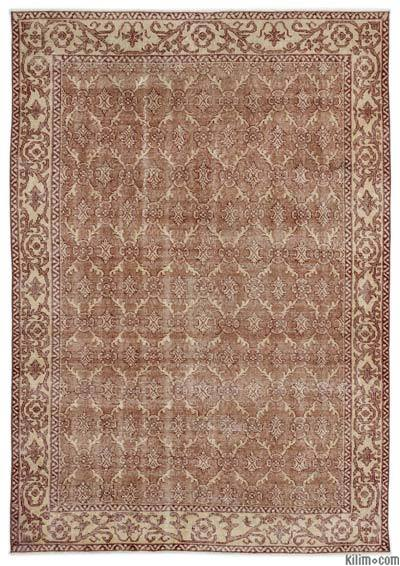 """Turkish Vintage Area Rug - 5' 7"""" x 8' 1"""" (67 in. x 97 in.)"""