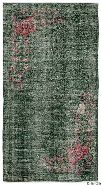 """Turkish Vintage Area Rug - 4'9"""" x 8'11"""" (57 in. x 107 in.)"""