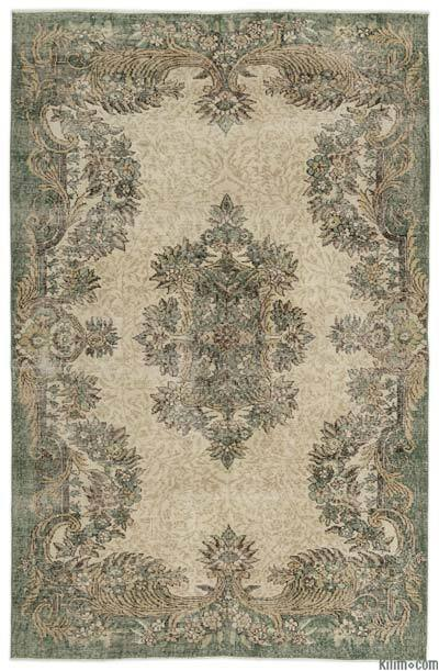 "Turkish Vintage Area Rug - 5'8"" x 8'7"" (68 in. x 103 in.)"
