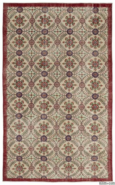 """Turkish Vintage Area Rug - 6'4"""" x 10'3"""" (76 in. x 123 in.)"""