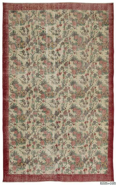 """Turkish Vintage Area Rug - 6'8"""" x 10'2"""" (80 in. x 122 in.)"""