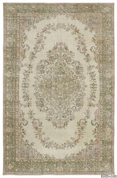 """Turkish Vintage Area Rug - 6'7"""" x 10' (79 in. x 120 in.)"""