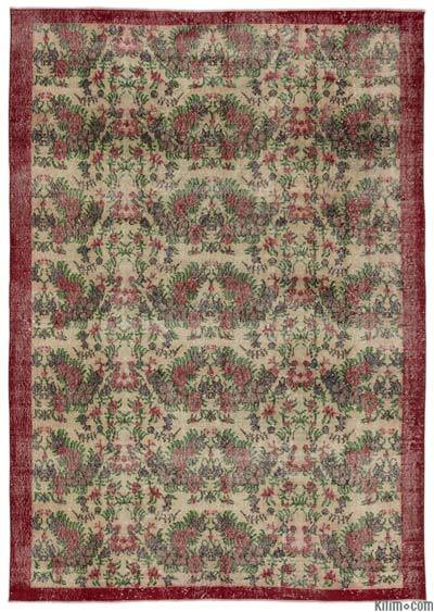 """Turkish Vintage Area Rug - 7' x 10'3"""" (84 in. x 123 in.)"""