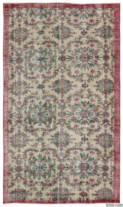 """Turkish Vintage Area Rug - 5'1"""" x 8'11"""" (61 in. x 107 in.)"""