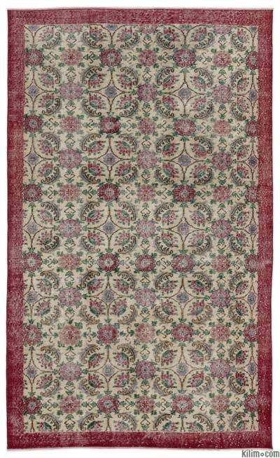 """Turkish Vintage Area Rug - 5'2"""" x 8'10"""" (62 in. x 106 in.)"""