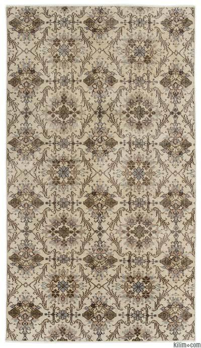 """Turkish Vintage Area Rug - 3' 10"""" x 6' 9"""" (46 in. x 81 in.)"""