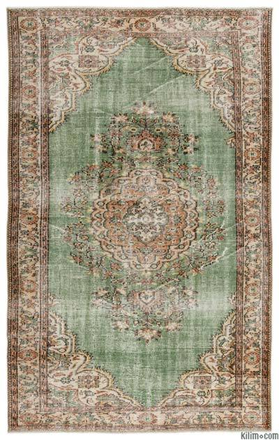 """Turkish Vintage Area Rug - 5' 11"""" x 9' 3"""" (71 in. x 111 in.)"""