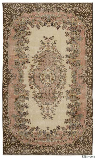 """Turkish Vintage Area Rug - 5'7"""" x 9'2"""" (67 in. x 110 in.)"""