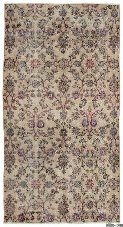 """Turkish Vintage Area Rug - 3' 10"""" x 7' 4"""" (46 in. x 88 in.)"""