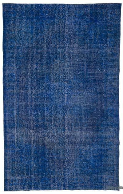 Boyalı El Dokuma Vintage Halı - 195 cm x 316 cm