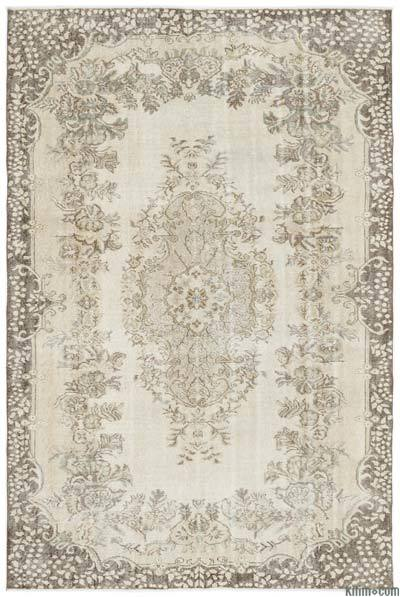 "Over-dyed Turkish Vintage Rug - 5'9"" x 8'7"" (69 in. x 103 in.)"