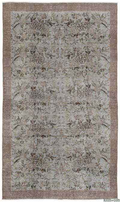 "Over-dyed Turkish Vintage Rug - 5' x 8'7"" (60 in. x 103 in.)"