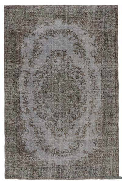 "Over-dyed Turkish Vintage Rug - 6'4"" x 9'10"" (76 in. x 118 in.)"