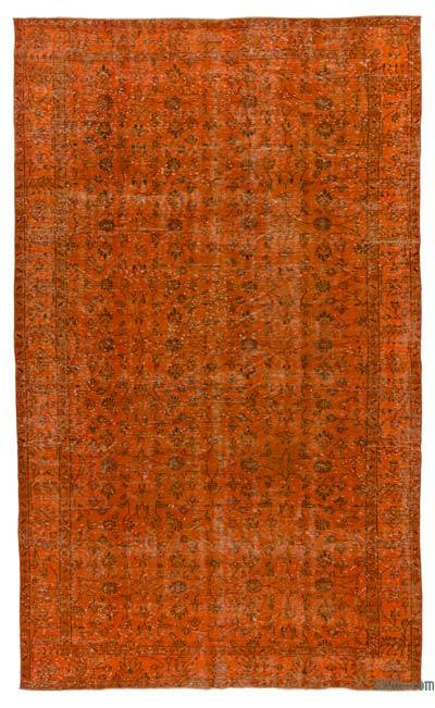 """Over-dyed Turkish Vintage Rug - 5' 8"""" x 9' 5"""" (68 in. x 113 in.)"""