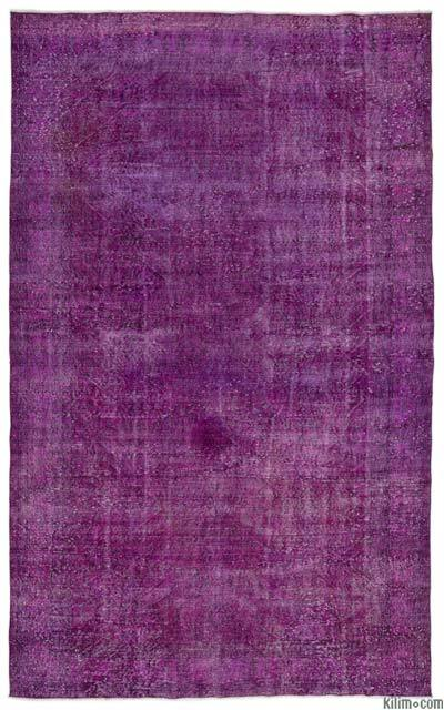 "Over-dyed Turkish Vintage Rug - 6' 6"" x 10' 6"" (78 in. x 126 in.)"