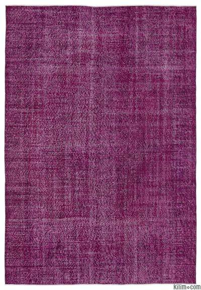 """Over-dyed Turkish Vintage Rug - 6'3"""" x 9'2"""" (75 in. x 110 in.)"""