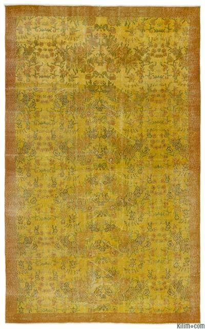 Boyalı El Dokuma Vintage Halı - 174 cm x 286 cm