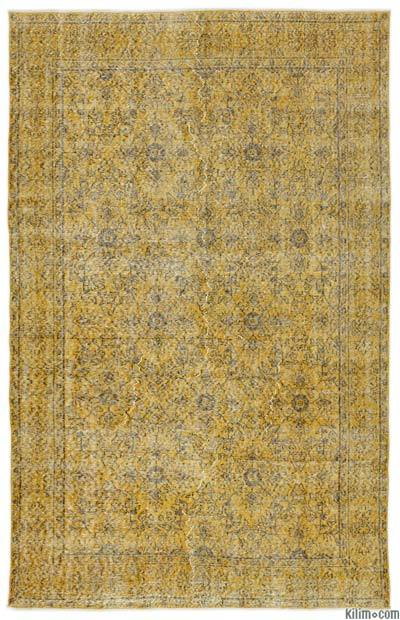 "Over-dyed Turkish Vintage Rug - 5'5"" x 8'6"" (65 in. x 102 in.)"