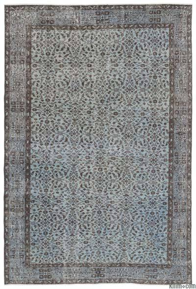 "Over-dyed Turkish Vintage Rug - 5'6"" x 8'4"" (66 in. x 100 in.)"