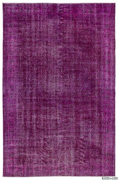 """Over-dyed Turkish Vintage Rug - 6' 3"""" x 9' 7"""" (75 in. x 115 in.)"""