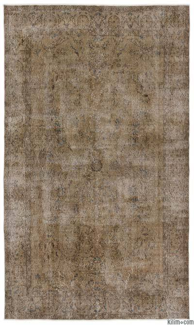 """Over-dyed Turkish Vintage Rug - 5'2"""" x 8'8"""" (62 in. x 104 in.)"""