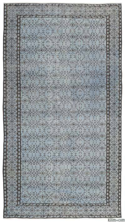 """Over-dyed Turkish Vintage Rug - 4'11"""" x 8'9"""" (59 in. x 105 in.)"""