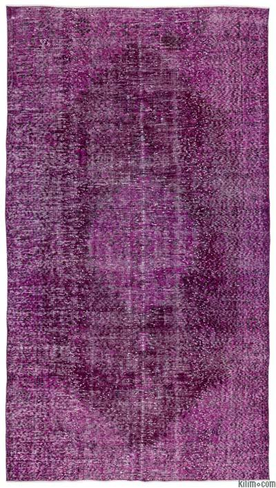 "Over-dyed Turkish Vintage Rug - 5'11"" x 10'10"" (71 in. x 130 in.)"