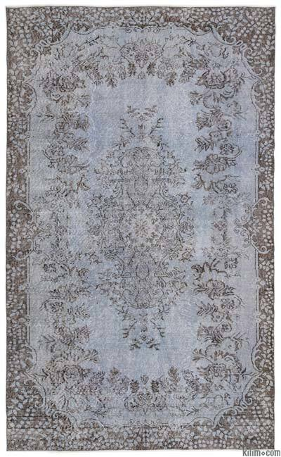 "Over-dyed Turkish Vintage Rug - 5'9"" x 9'5"" (69 in. x 113 in.)"