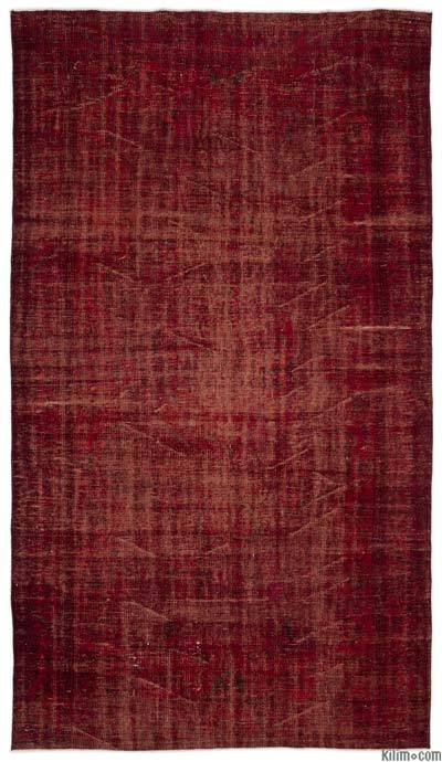 """Over-dyed Turkish Vintage Rug - 5'9"""" x 10' (69 in. x 120 in.)"""