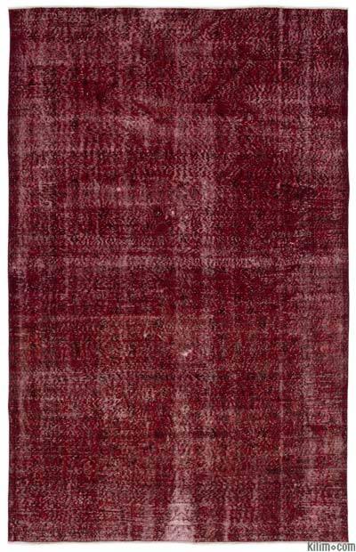 Boyalı El Dokuma Vintage Halı - 201 cm x 320 cm