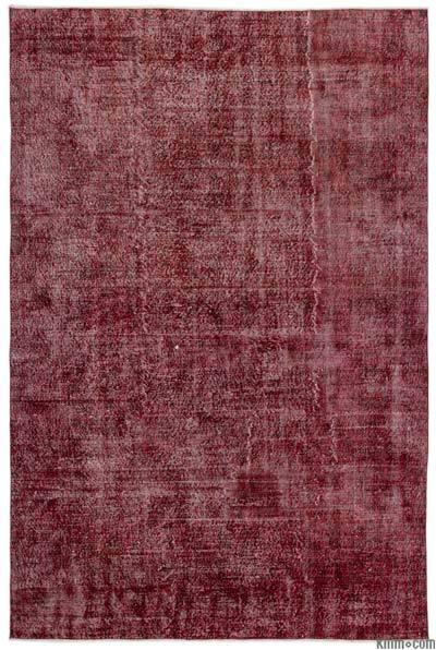 Boyalı El Dokuma Vintage Halı - 210 cm x 315 cm