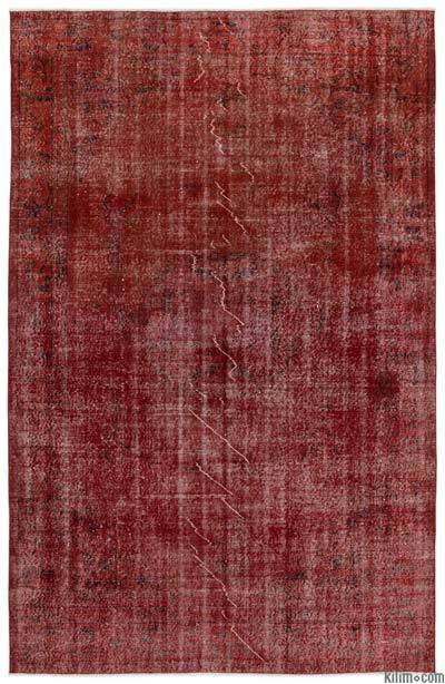 """Over-dyed Turkish Vintage Rug - 6'3"""" x 9'7"""" (75 in. x 115 in.)"""