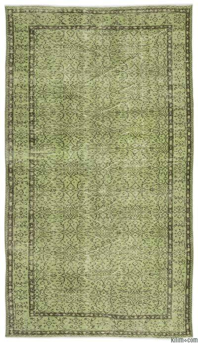 """Over-dyed Turkish Vintage Rug - 5'3"""" x 9'2"""" (63 in. x 110 in.)"""