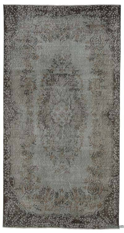 "Over-dyed Turkish Vintage Rug - 3'11"" x 7'6"" (47 in. x 90 in.)"