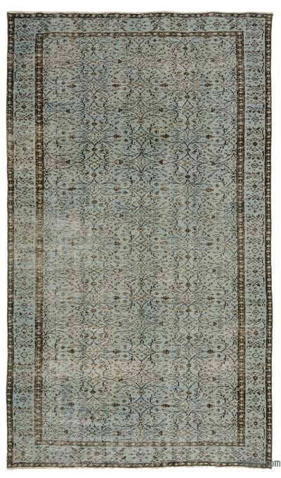 "Over-dyed Turkish Vintage Rug - 4' 10"" x 8' 6"" (58 in. x 102 in.)"