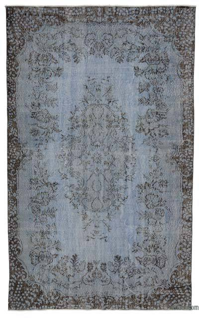"""Over-dyed Turkish Vintage Rug - 5' 7"""" x 9' 3"""" (67 in. x 111 in.)"""