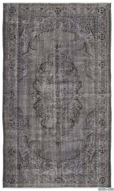 Alfombra Turca Vintage Sobre-teñida - 173 cm x 295 cm