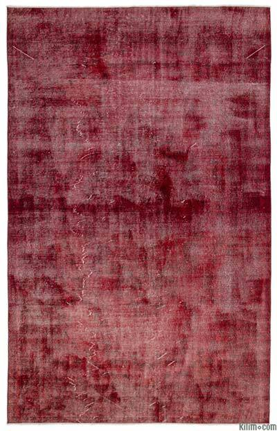 "Over-dyed Turkish Vintage Rug - 6' 7"" x 10' 6"" (79 in. x 126 in.)"