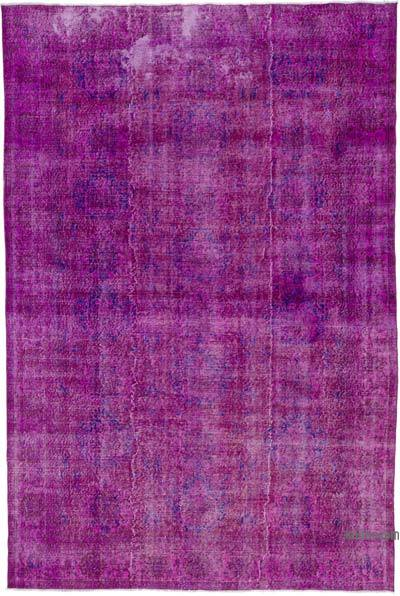 "Fuchsia Over-dyed Turkish Vintage Rug - 6' 11"" x 10' 4"" (83 in. x 124 in.)"
