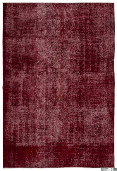 "Over-dyed Turkish Vintage Rug - 6' 9"" x 10' 2"" (81 in. x 122 in.)"