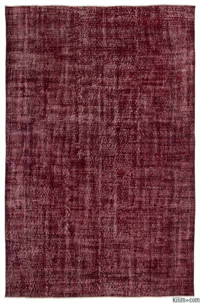 "Over-dyed Turkish Vintage Rug - 6'11"" x 10' (83 in. x 120 in.)"
