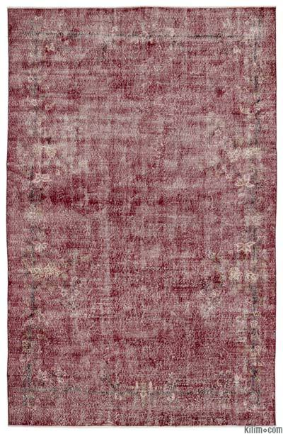 Over-dyed Turkish Vintage Rug - 7' x 11' (84 in. x 132 in.)