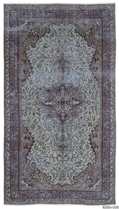 Boyalı El Dokuma Vintage Halı - 158 cm x 286 cm