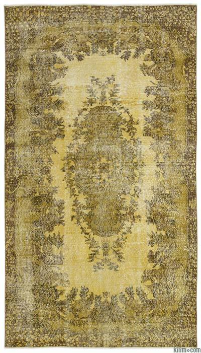 """Over-dyed Turkish Vintage Rug - 5'3"""" x 9'6"""" (63 in. x 114 in.)"""