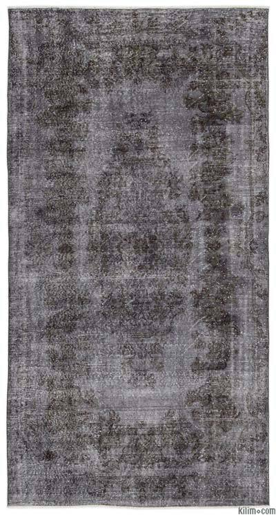 "Over-dyed Turkish Vintage Rug - 5'5"" x 10'3"" (65 in. x 123 in.)"