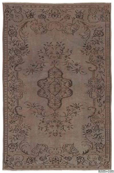 """Over-dyed Turkish Vintage Rug - 5'2"""" x 8' (62 in. x 96 in.)"""