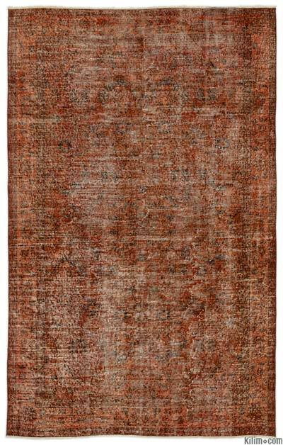 "Over-dyed Turkish Vintage Rug - 5'7"" x 8'10"" (67 in. x 106 in.)"