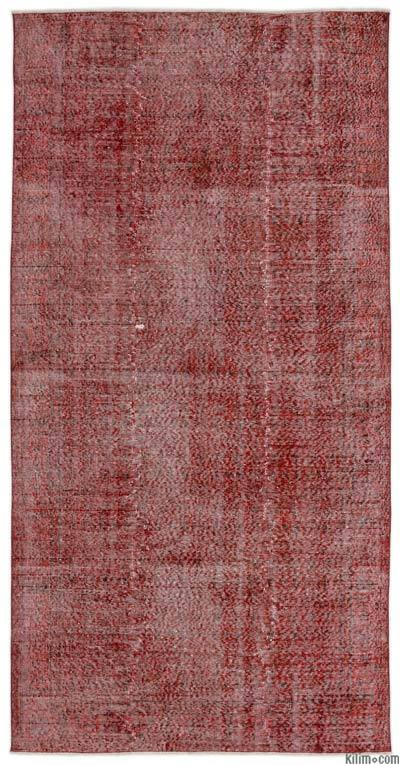 """Over-dyed Turkish Vintage Rug - 4'11"""" x 9'11"""" (59 in. x 119 in.)"""